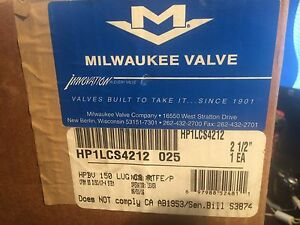 Milwaukee Valve 2-1/2 in.150psi Carbon Steel High Performance Lug Butterfly(NEW)