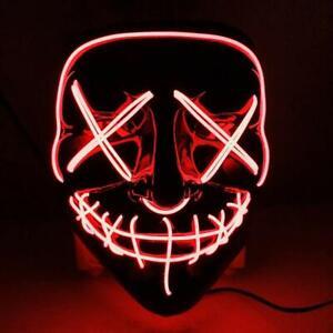 LED leuchtende Maske Halloween-Maske 3 Blitzmodi für Fasching Cosplay DHL UG-TN