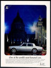 1978 Cadillac Seville silver car night photo vintage print ad