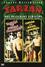 Tarzan and the Amazons (1945) + Tarzan / Leopard Woman (1946) UK Compatible DVD