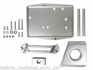 Ford Mustang Battery Tray & Clamp Kit Billet 1967 1968 Eleanor GT 289 302 390 67