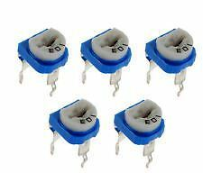 25 Pc Mix Cermet Preset Variable Resistance 5 Items-5Pc for Electronic Circuit