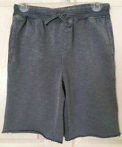 NWT Gymboree Boys Pull on Sweat Shorts Size L (10-12) Gray Color Jersey Cotton