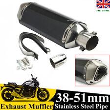 UK Exhaust Muffler 38-51MM Pipe Motorcycle For Dirt/Street Bike Scooter ATV Quad