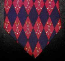 Harrods Knightsbridge Tie Silk Red Navy Diamond Geometric NIB t2416