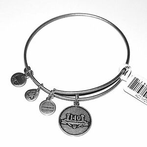 New ALEX & ANI Kentucky Derby Expandable Wire Bangle Horse Racing Charm Bracelet