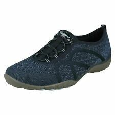 Ladies Skechers Relaxed Fit Slip On Casual Wide Fitting Trainers : FORTUNEKNIT