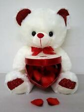 """Big Cute Soft Valentine Bear Holding Red Heart Box for Chocolate Flower Gift 15"""""""