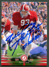 Marty Lyons #31 signed autograph auto 2012 Upper Deck Alabama Football Card