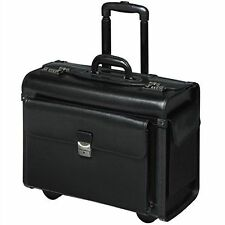 Pilot Case with trolley Pilot trolley wheeled real genuine leather black   XL