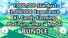 Pokémon Go ✅ 1 Million Stardust 2 DAYS DELIVERY ✅ Platinum Medal ✅ XL Candy