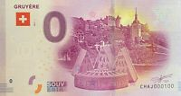BILLET 0  EURO GRUYERE SUISSE  2017  NUMERO 100