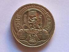 Rare UK Capital City CARDIFF £1 One Pound Coin -Good Condition- Free Shipping