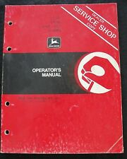 ORIGINAL 1984 JOHN DEERE 1250 1450 1650 TRACTOR OPERATORS MANUAL VERY GOOD SHAPE