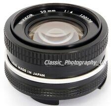 MINT Nikon NIKKOR 20mm 1:4 ULTRA-Wide-Angle Nikon Ai Lens for FILM & DIGITAL SLR