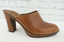 Donald J. Pliner Womens Brown Leather Slip On Mules Size 7M