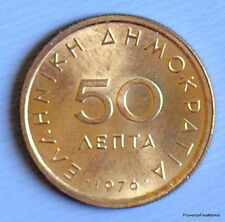 Grèce, République, 50 Lepta 1976, KM 115, aca100