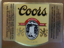 VINTAGE CANADIAN BEER LABEL - MOLSON BREWERY, COORS BANQUET BEER 341 ML