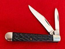 "Camco Camillus USA two blade serpentine 2-7/8"" closed peanut knife"