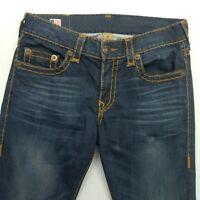 True Religion  Mens STRETCH W33 L34 Jeans  31 Blue Slim Skinny