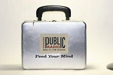 Vintage Chicago Public Radio WBEZ 91.5 FM Feed Your Mind Box 9.3/8x7