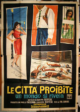 manifesto 4F film LE CITTA' PROIBITE Giuseppe Scotese Mondo Movie 1963 art BRINI