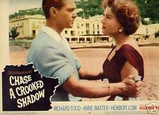 Lobby Card 1958 CHASE CROOKED SHADOW A Baxter thriller
