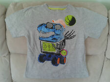Boys 5-6 Years - Grey T-Shirt with Boys Toys Motif
