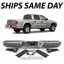 NEW Chrome Steel Rear Step Bumper Assembly 1997-2004 Dodge Dakota W/ Pads 97-04