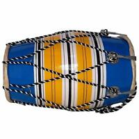 Wooden Dholak Premium Quality Indian Folk Indian Drum Musical -13 inch