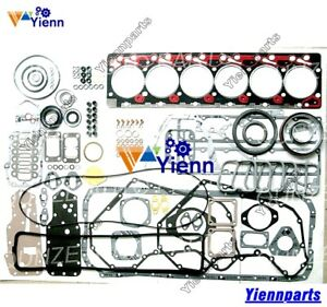 6B 6BT 6BTA 5.9L12V Full Overhaul Gasket Kit For Cummins Engine Top Bottom Set