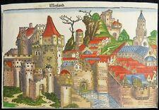 MAILAND MILANO MILAN KOL. INKUNABEL HOLZSCHNITT SCHEDEL WELTCHRONIK 1493 J52