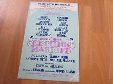 Kenneth CONNOR in Getting Married 1982 Theatre Royal NOTTINGHAM Original Poster
