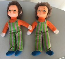 VINTAGE 60's # BAMBOLA DOLL ANNI TWINS  GEMELLI PANNO CELLULOIDE#  TIPO LENCI