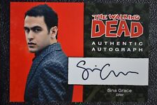 Cryptozoic Walking Dead Comic Set A4 Sina Grace Autograph Auto Trading Card