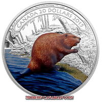 CANADA 2015 $20 FINE SILVER COIN - BEAVER AT WORK