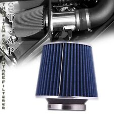 """Universal 4"""" Inch Dry Short Ram/Turbo/Cold Air Flow Intake Filter Blue Chrome"""
