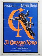IL CORSARO NERO avventura Sollima con Kabir Bedi manifesto orig. 1976