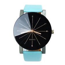 Geneva Classic Men Women Quartz Analog PU Faux Leather Band Wrist Watch#