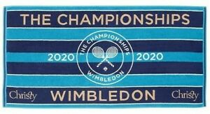 "2020 WIMBLEDON ""THE CHAMPIONSHIP"" BLUE TOWEL NEW COLLECTABLE"
