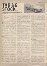 Jensen Interceptor III 'Taking Stock' 1972 UK Market Leaflet Brochure Autocar