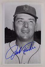 JACK FISHER NewYork Mets  Orioles Giants WhiteSox Autographed 3x5 Postcard 16F