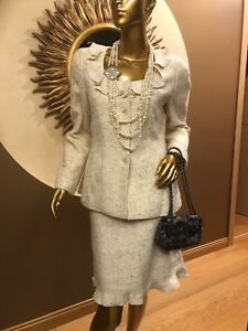 Chanel Suit Jacket And Skirt