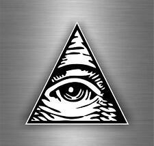 Sticker decal art wall car moto biker illuminati pyramid eye of providence see B