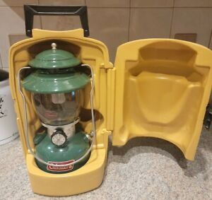 Coleman 200A 700 Lantern...Green Single Mantle  with Yellow Clamshell Case