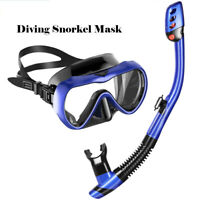 Anti Fog Half Face Snorkel Mask Swimming Dive Scuba Goggles Adult Kids For GoPro