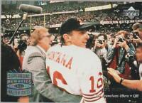 1997 Upper Deck Superbowl Memories #208 Joe Montana card, San Francisco 49ers