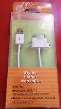 USB 3 Way Micro USB Mini USB iPhone 4 3 Cable Lead USB2.0 1M For Mobile Phone