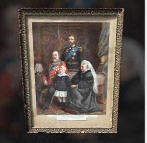 Queen Victoria & Prince Albert 4 Generations Victorian Framed Print