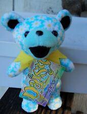 "Grateful Dead"" Daisy "" Beanie Baby 7"" Tall Made Liquid Blue (New) Yellow Flower"